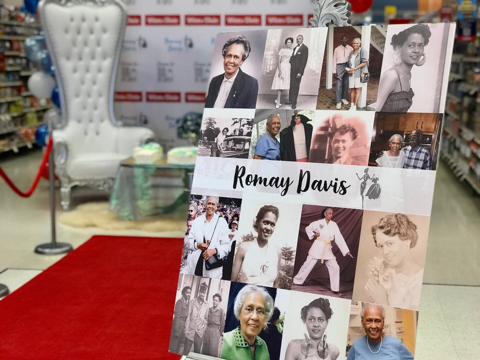 The red carpet for Romay Davis featured photos from her 100 years. At 70, she even earned her...