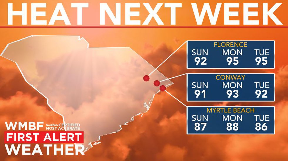 First heat wave of the season on the way.