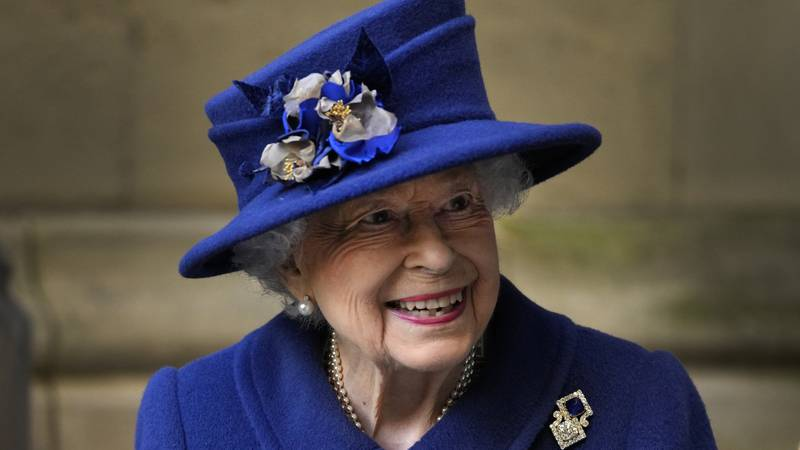FILE - In this Tuesday, Oct. 12, 2021 file photo, Britain's Queen Elizabeth II leaves after...