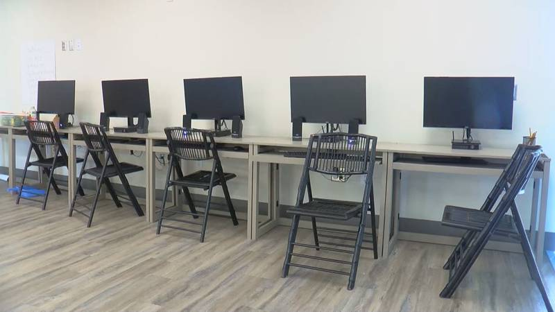 The new computer lab's ribbon cutting will be August 4.
