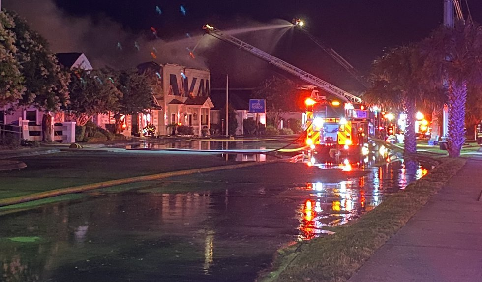 Emergency crews are on the scene of a structure fire in Mount Pleasant early Thursday morning....