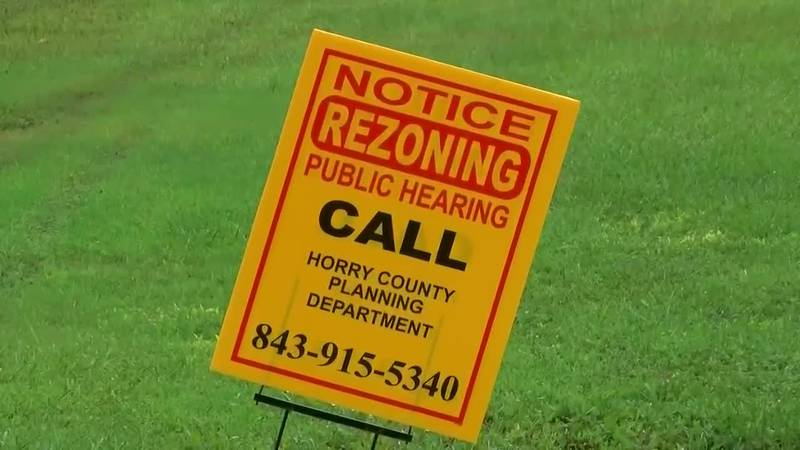 Horry County rezoning sign (Source: WMBF News)