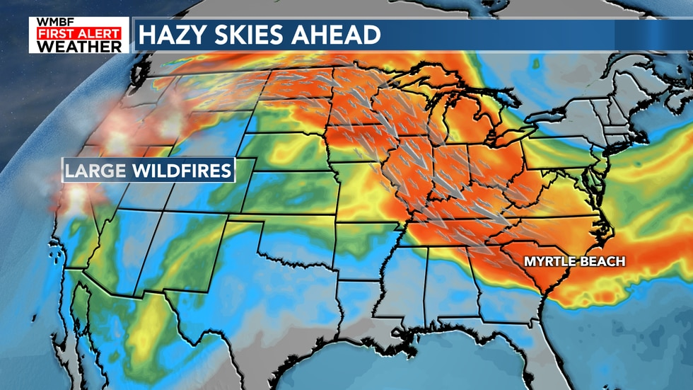 Smoke is main story today with plenty of heat and humidity. If you suffer from allergies, today...