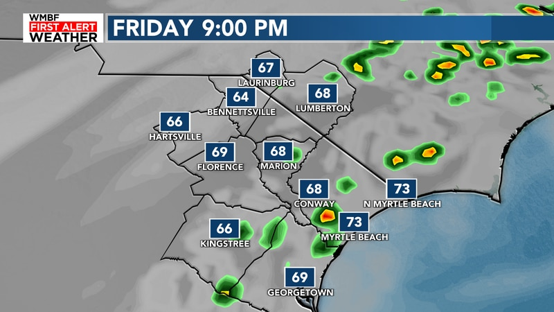 A few sprinkles possible today.