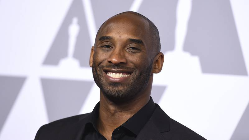 In this Feb. 5, 2018 file photo, Kobe Bryant arrives at the 90th Academy Awards Nominees...