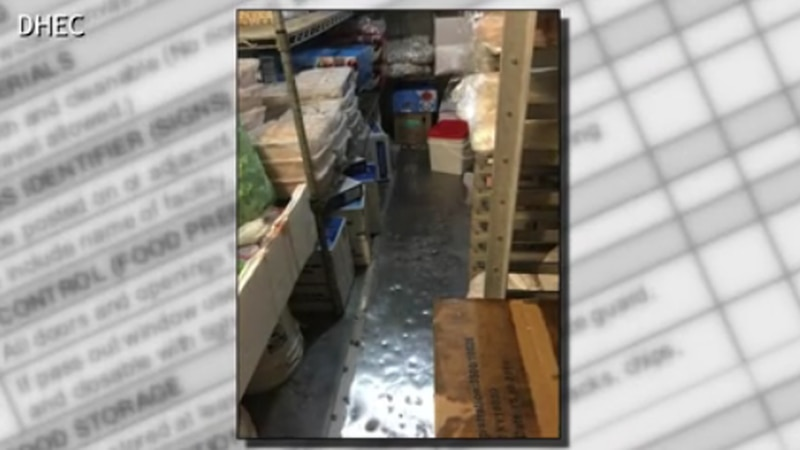Inspectors uncovered food on the floor at King Sushi.