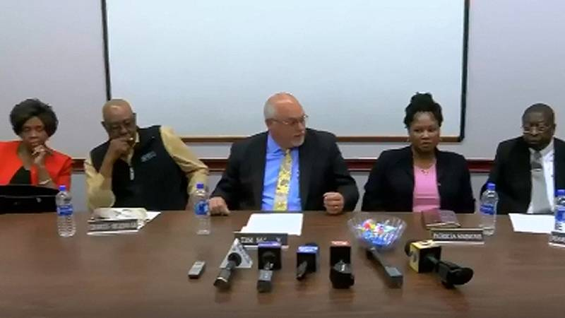 The Colleton County School Board made its first public comments Thursday afternoon after a...