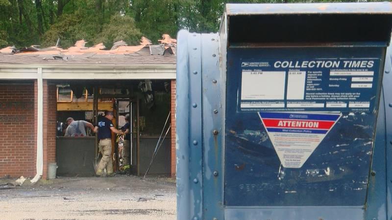 Postal office fire