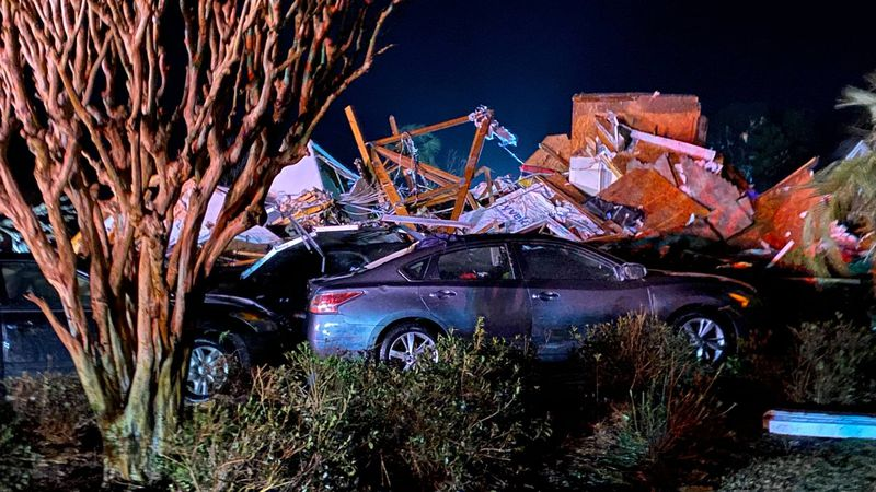 A tornado devastated the Ocean Ridge community in Brunswick County late Monday night.