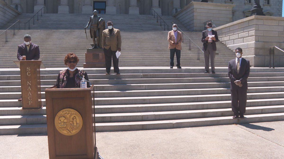 Civil rights organizations and state leaders met at the State House calling on Gov. Henry...