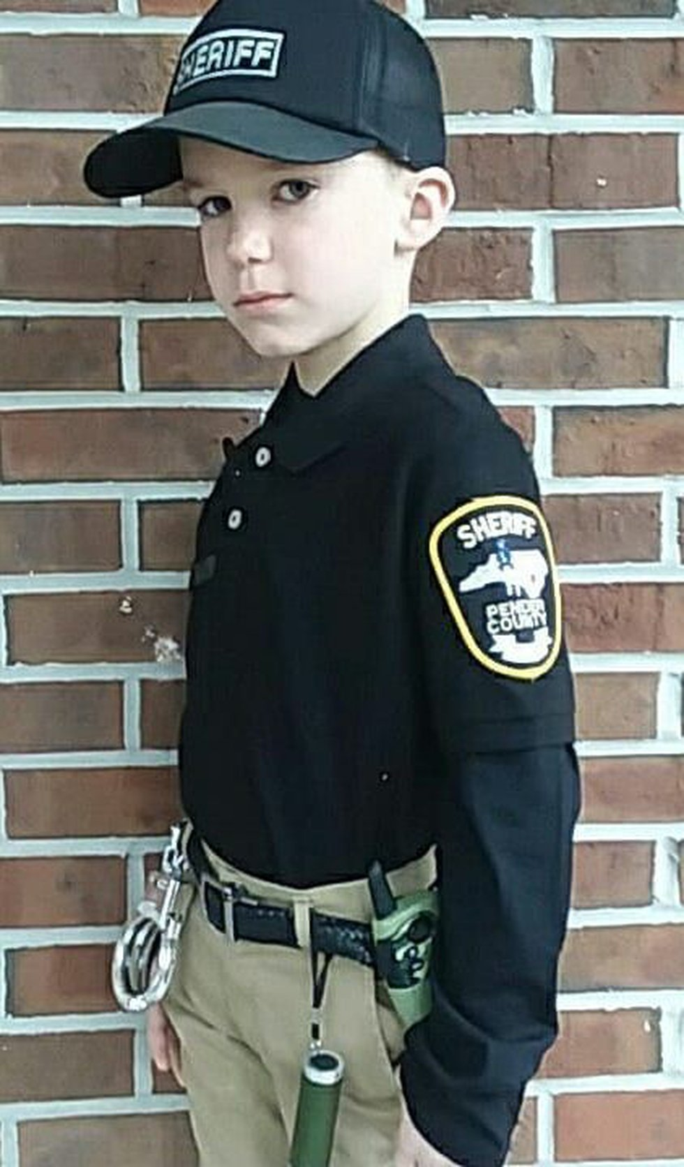 Daniel was excited to dress up as a Pender County Sheriff's Deputy for career day at his school...