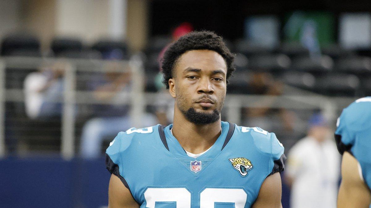 Jacksonville Jaguars cornerback C.J. Henderson (23) walks on the field prior to playing the...
