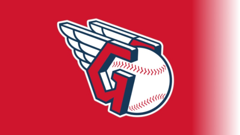 The Guardians fastball logo, inspired by the helmets worn by the Guardians of Traffic on the...