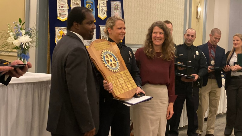 Myrtle Beach police Pfc. Michelle Morrison was awarded the Officer Joe McGarry Memorial Police...