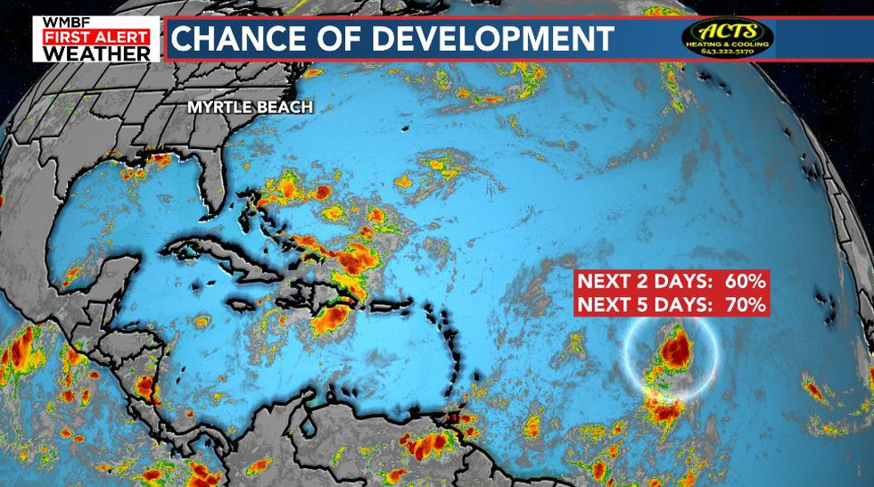 Grace will likely develop by the weekend.