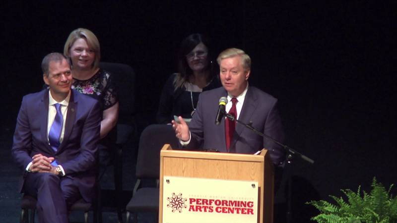 Sen. Graham delivered the commencement speech at Trinity Byrnes Collegiate School in Florence...