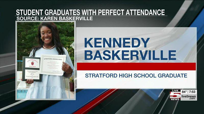 Stratford HS student graduates with perfect attendance from kindergarten through high school