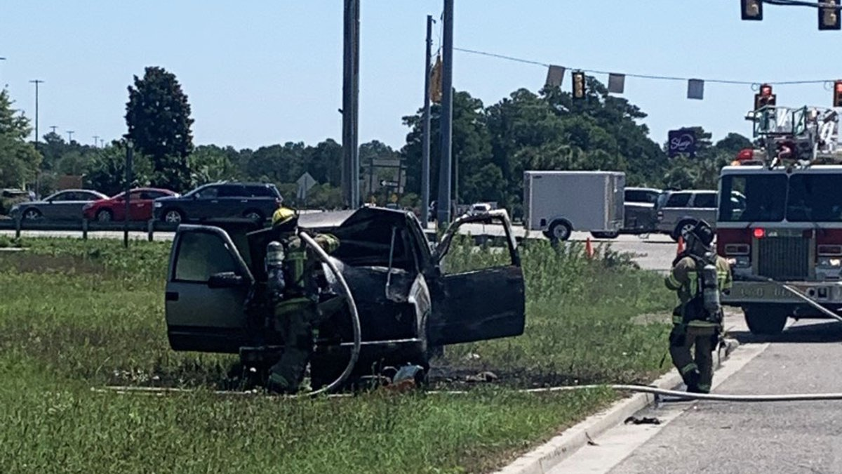 Crews were called to a vehicle fire Thursday on Rodeo Drive in Myrtle Beach.