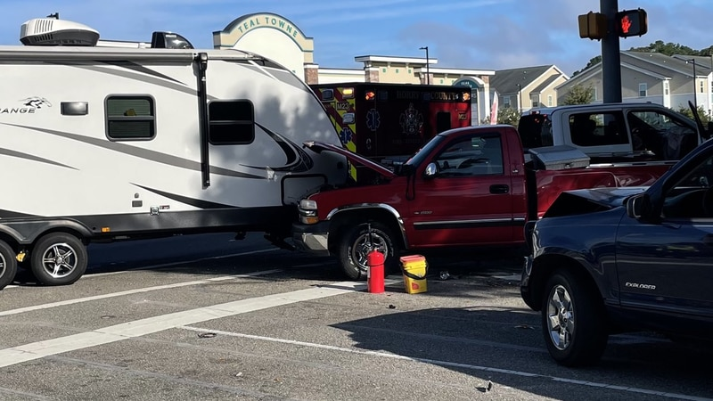 Officials said one person was hurt in this accident on Highway 544 early Saturday.