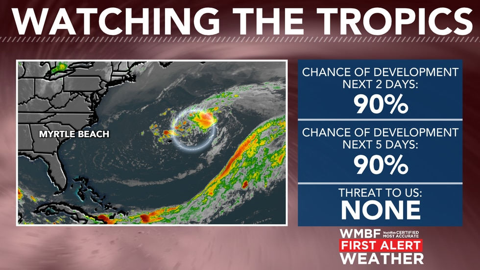 Chances of development are increasing with the 8 AM update.