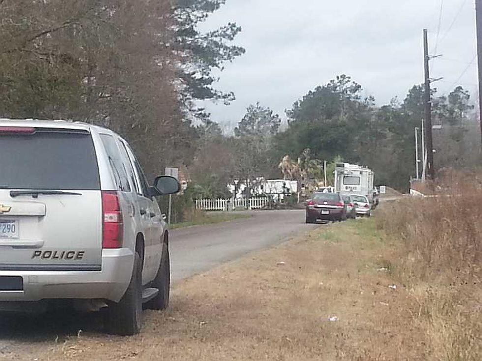 A mobile command center arriving at the scene.