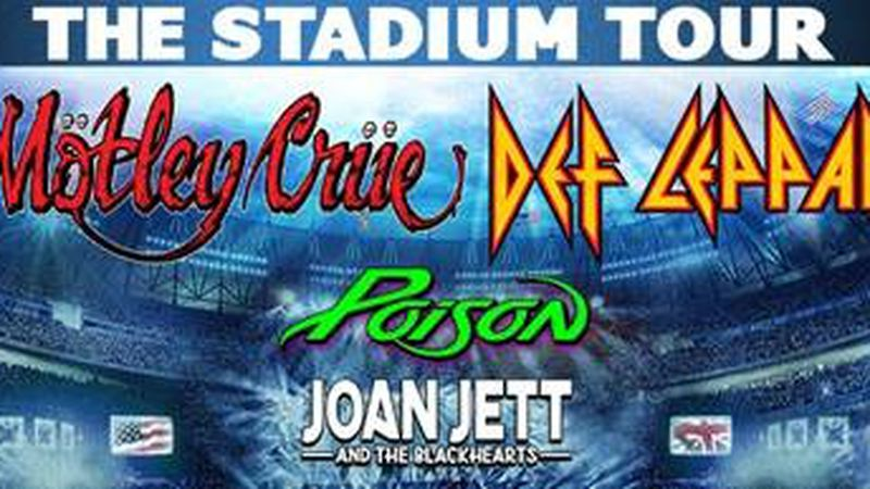 Def Leppard, Mötley Crüe, Poison and Joan Jett & The Blackhearts are bringing their...
