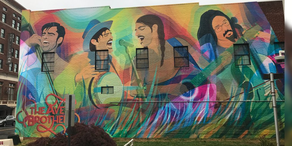 'It is beyond words': Avett Brothers honored with large mural in hometown, downtown Concord