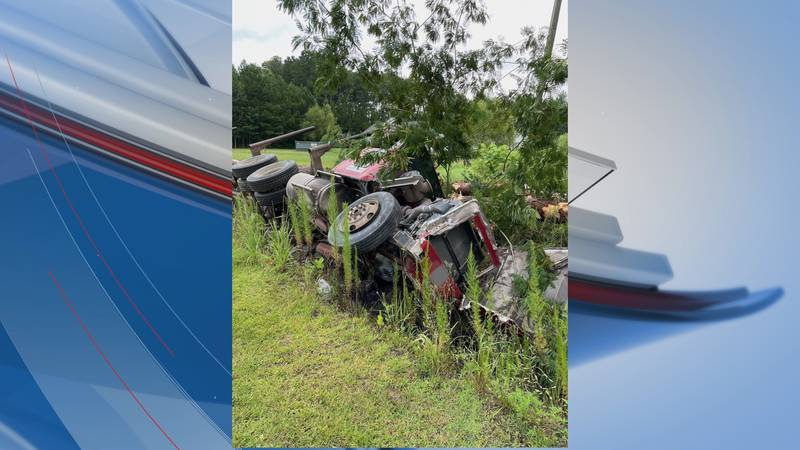 A crash involving a log truck has forced a road closure Wednesday morning in the Conway area.