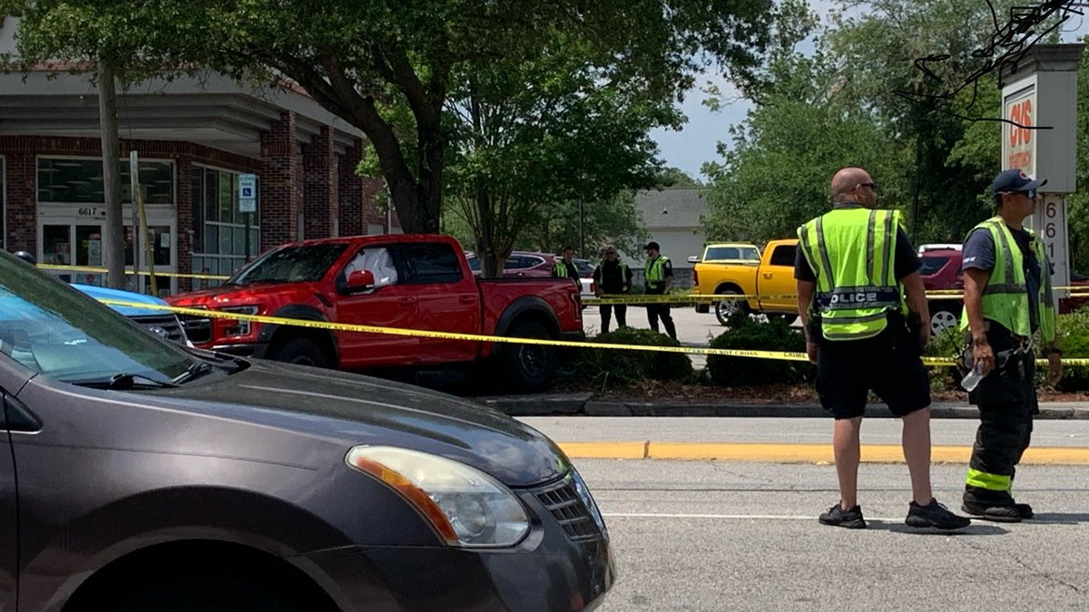 The driver of the red pick-up truck was cited in a crash that killed two pedestrians at 67th...