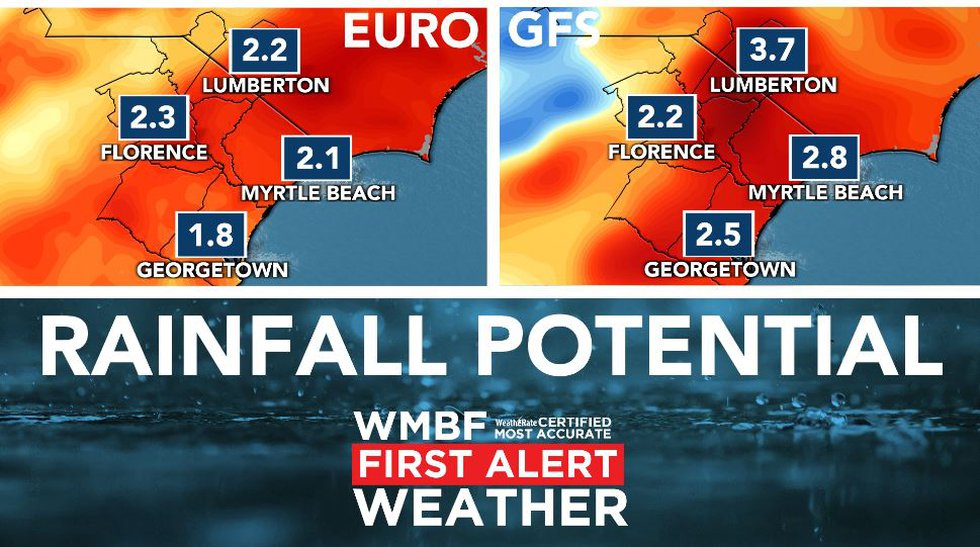Rainfall potential will reach 1 to 2 inches.