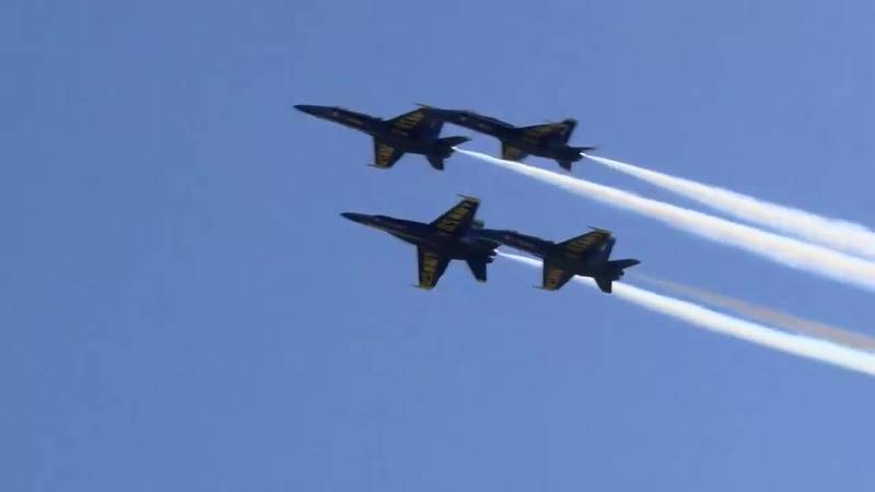 The Blue Angels performed during the 2018 Wings Over Myrtle Beach Airshow in April. (Source:...