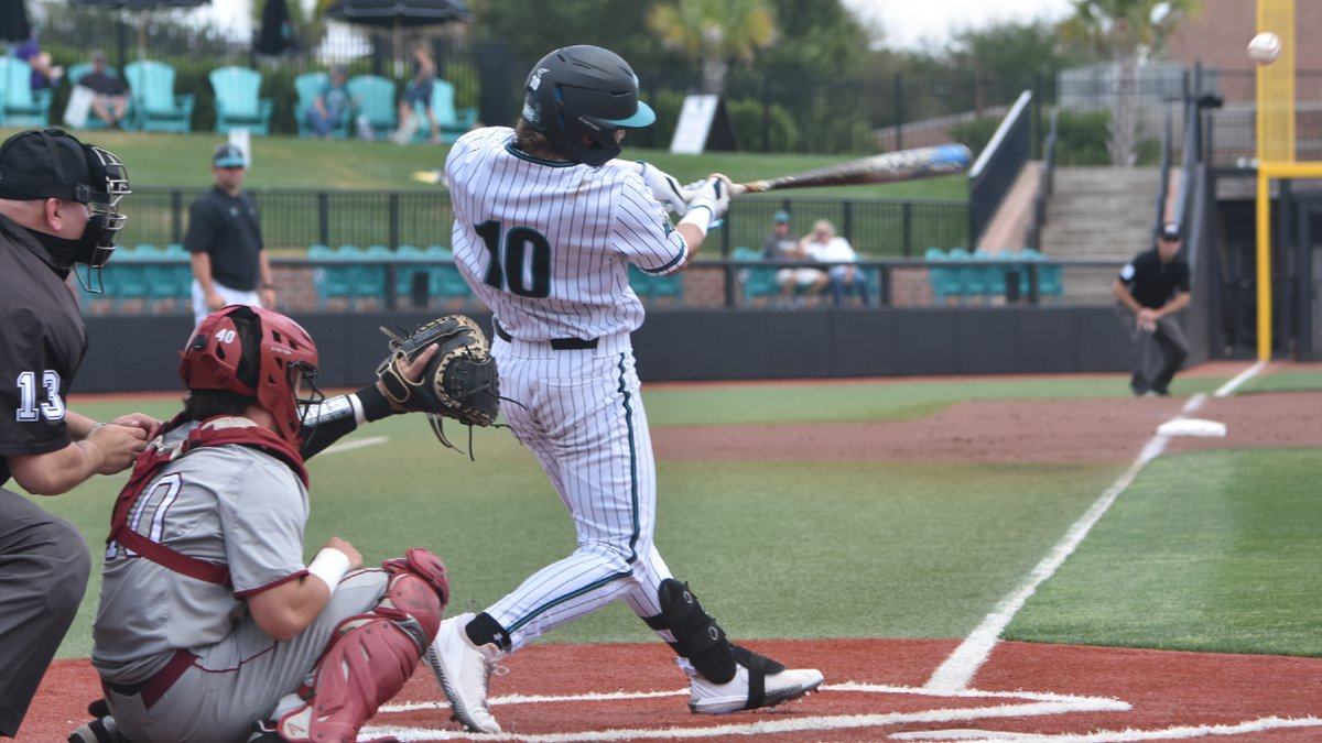 Billy Underwood (10) hit a grand slam for the Chanticleers in Friday's loss against Troy.