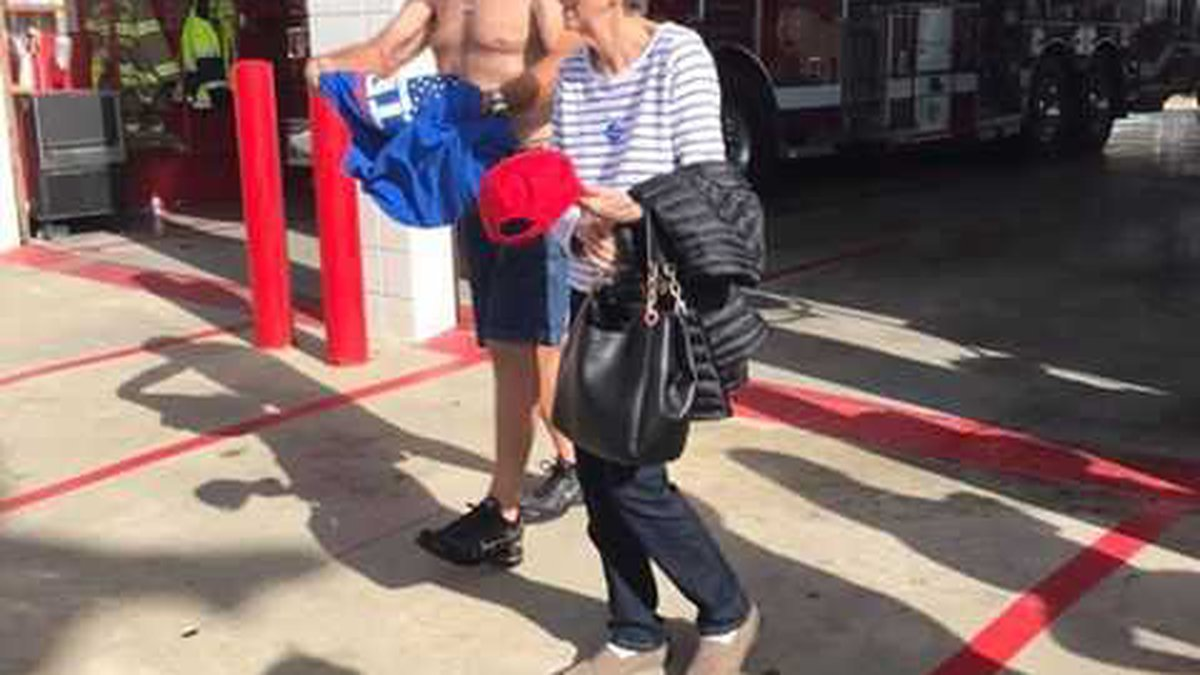 A man wearing a shirt supporting President Trump was told he couldn't wear the clothing inside...