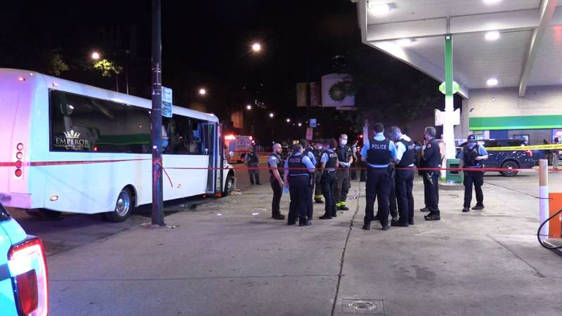 Multiple people on a party bus were hurt in a drive-by shooting in Chicago.