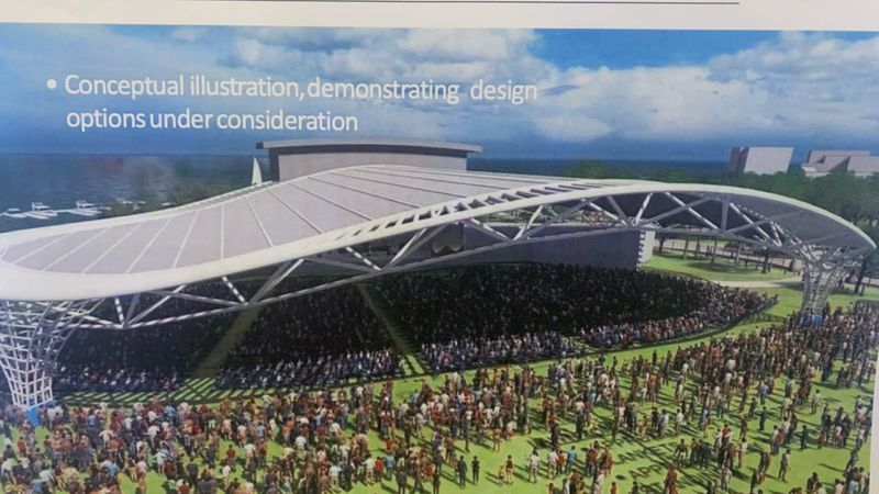 An illustration of what the proposed amphitheater could look like.