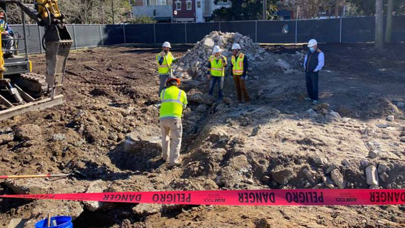 The time capsule found Saturday will be taken to a controlled environment to protect its...
