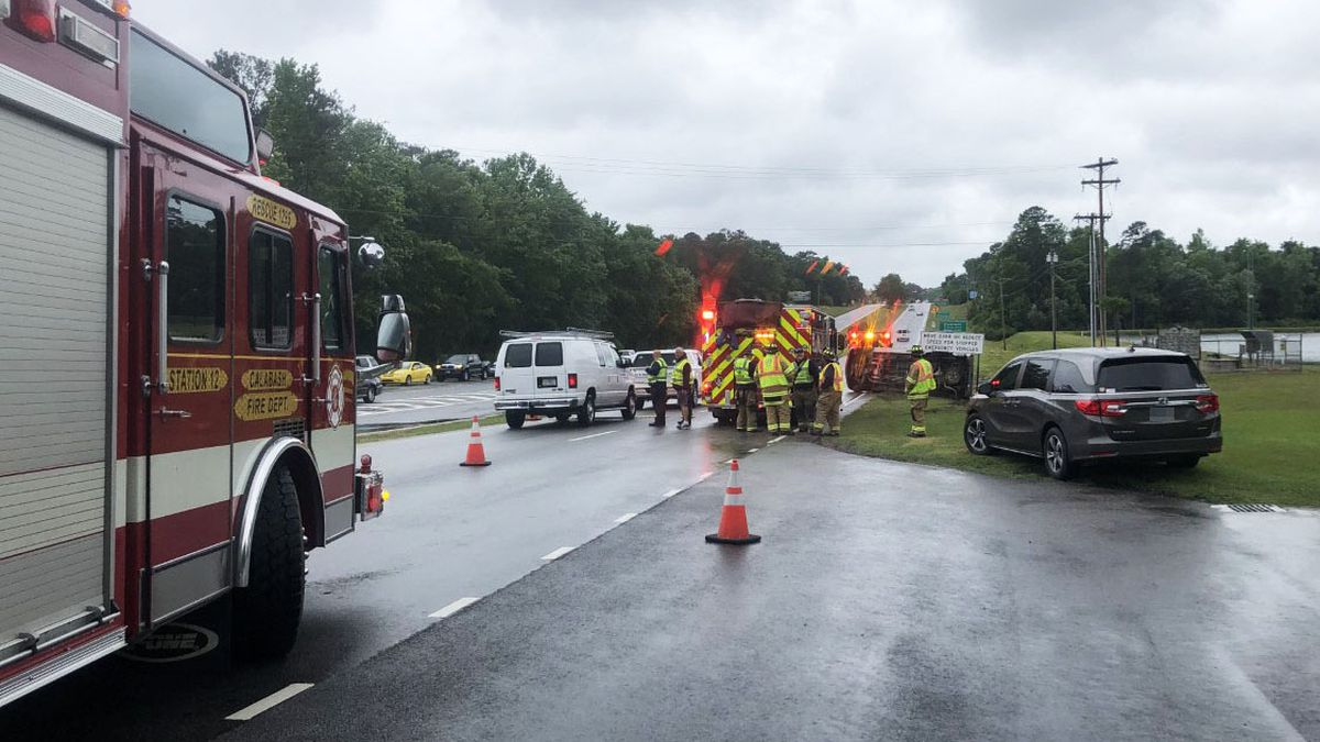 Crews were called to an overturned vehicle Wednesday afternoon in Little River.