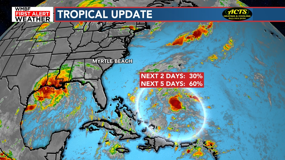 We continue to keep an eye on the chance of development to our southeast. The good news? This...