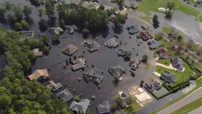 Ariel footage shows damage in Horry County from Hurricane Florence