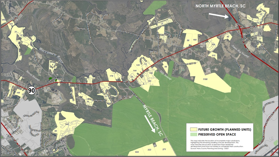 There are 3,243 planned units along the Hwy 90 corridor from Depot Rd to Hwy 22 that have not...