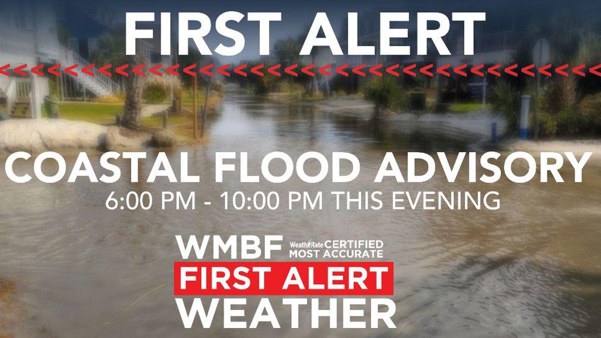 Minor coastal flooding this evening.