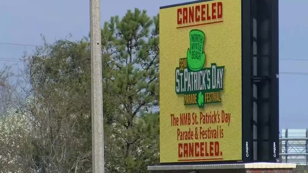The city of North Myrtle Beach canceled its annual St. Patrick's Day parade amid coronavirus...