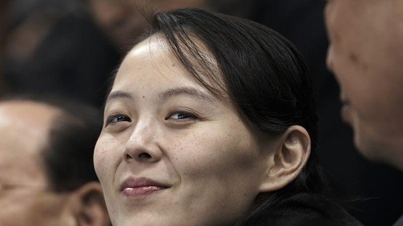 In this Feb. 10, 2018, file photo, Kim Yo Jong, sister of North Korean leader Kim Jong Un,...