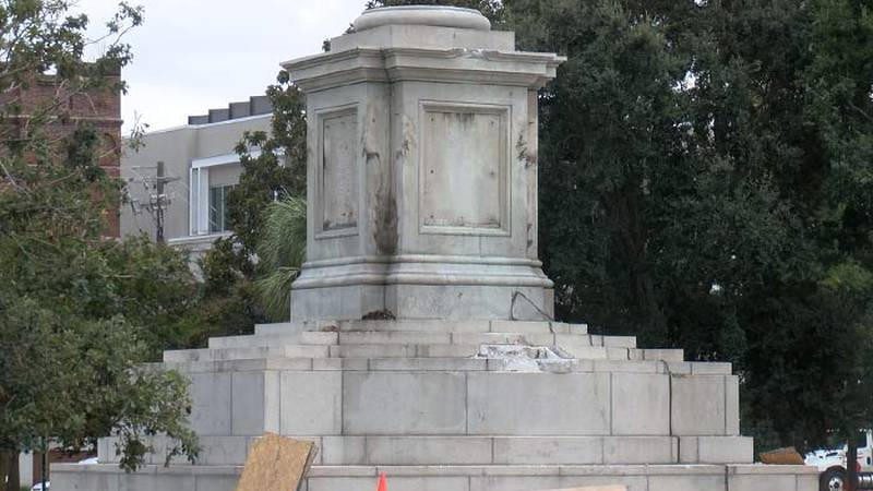 Crews will move forward next week to take down what's left of the John C. Calhoun monument in...