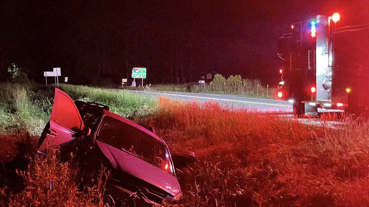 One person was sent to the hospital following a crash Friday morning in the Little River.