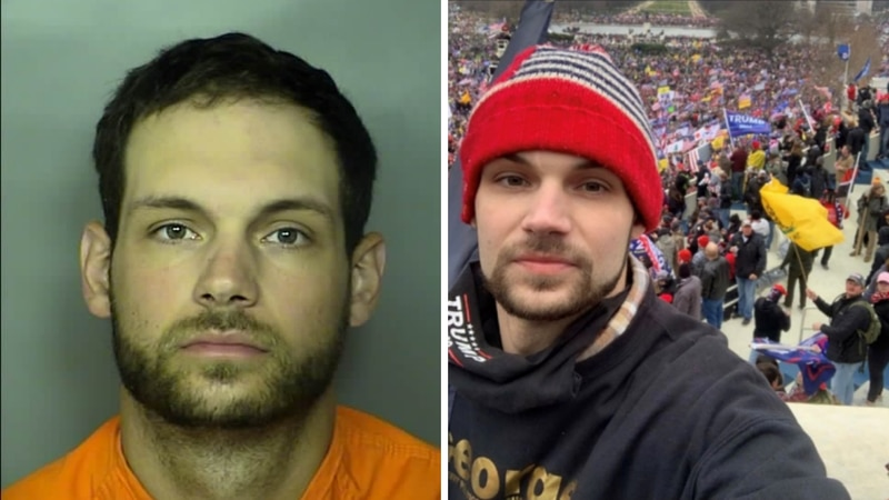 Nicholas Languerand is accused of participating in the deadly Capitol riots that took place on...