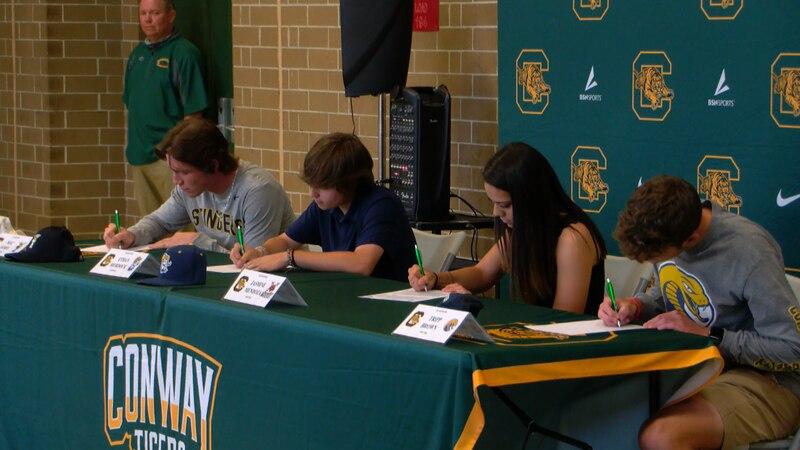 From left to right: Mac James, Ethan Murdock, Jasmine Mendoza, Tripp Brown