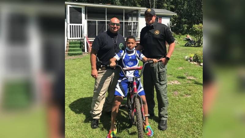 On Aug. 5, Deputy Gainey loaded up a bike in his patrol car that his son no longer needed and...