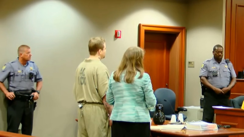 Ambrose Heavener, left, appeared in an Horry County courtroom for a hearing Wednesday morning.