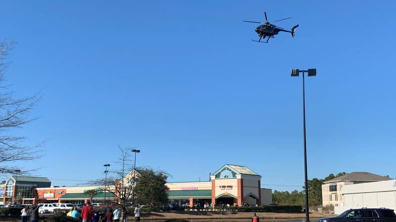 A SLED helicopter spotted a car in a Carolina Forest pond Thursday that is tied to a missing...